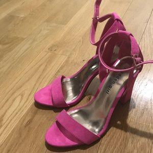 Madden girl hot pink sandals size 6